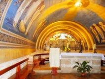 Iglesia de la transfiguración en el soporte Tabor en Israel Imágenes de archivo libres de regalías