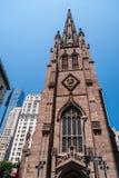 Iglesia de la trinidad, NYC Foto de archivo libre de regalías