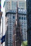 Iglesia de la trinidad, NYC Imagen de archivo libre de regalías