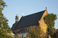 Iglesia de la trinidad santa en Krosno polonia Foto de archivo libre de regalías