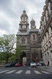 Iglesia de la trinidad santa en París Foto de archivo libre de regalías