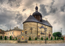 Iglesia de la trinidad santa, Kamianets-Podilskyi, Ucrania fotos de archivo