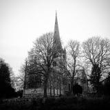 Iglesia de la trinidad santa, Stratford sobre Avon fotografía de archivo