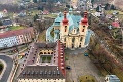 Iglesia de la Virgen María, Hejnice Foto de archivo libre de regalías