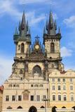 Iglesia de la Virgen Maria antes de Tyn, Praga Imagenes de archivo