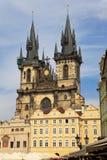 Iglesia de la Virgen Maria antes de Tyn, Praga Imagen de archivo libre de regalías
