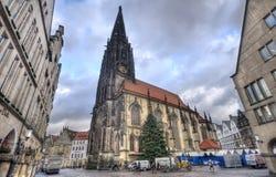 Iglesia de Lamberti del santo en Munster, Alemania Fotografía de archivo libre de regalías