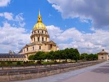 Iglesia de Les Invalides en París, Francia. Fotografía de archivo