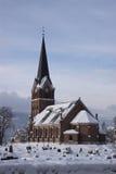 Iglesia de Lillehammer Foto de archivo libre de regalías