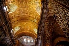 Iglesia De Los angeles Compañía De Jesús, Quito Fotografia Stock