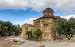 Iglesia de los apóstoles santos, Atenas, Grecia Imagenes de archivo
