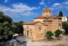 Iglesia de los apóstoles santos en Atenas fotografía de archivo libre de regalías