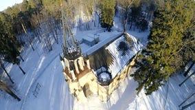 Iglesia de los ap?stoles santos Peter y Paul St Petersburg Parque de Shuvalov metrajes