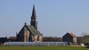 Iglesia de los marquillies del pueblo imagen de archivo