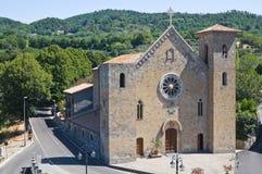 Iglesia de los SS. Salvador. Bolsena. Lazio. Italia. Foto de archivo