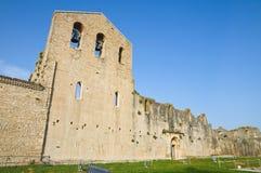 Iglesia de los SS. Trinidad. Venosa. Basilicata. Italia. Imágenes de archivo libres de regalías