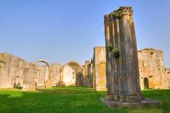 Iglesia de los SS. Trinidad. Venosa. Basilicata. Italia. Foto de archivo libre de regalías