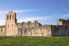 Iglesia de los SS. Trinidad. Venosa. Basilicata. Italia. Imagen de archivo