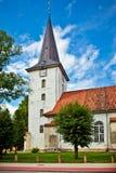 Iglesia de Lutheran de la trinidad santa de Tukums, Latvia fotografía de archivo libre de regalías