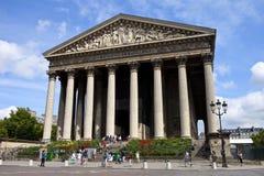 Iglesia de Madeleine del La, París Imagen de archivo