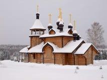 Iglesia de madera. Imagen de archivo libre de regalías