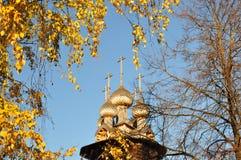 Iglesia de madera. Fotografía de archivo