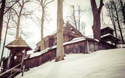 Iglesia de madera Fotos de archivo libres de regalías