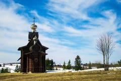 Iglesia de madera Imagen de archivo