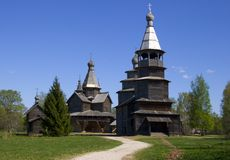 Iglesia, de madera Fotos de archivo libres de regalías
