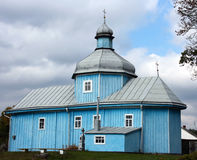Iglesia de madera antigua Foto de archivo libre de regalías