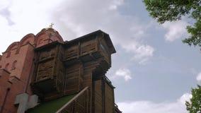 Iglesia de madera antigua metrajes
