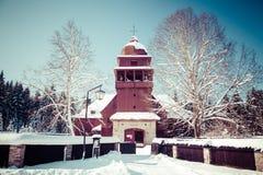 Iglesia de madera articular, Eslovaquia Foto de archivo