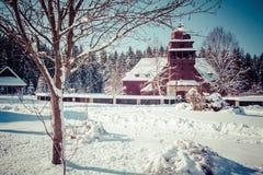 Iglesia de madera articular, Eslovaquia Fotos de archivo libres de regalías