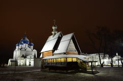 Iglesia de madera de San Nicolás en Suzdal Fotografía de archivo libre de regalías