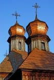 Iglesia de madera del país viejo Fotos de archivo libres de regalías