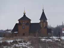 Iglesia de madera en Bahmut Fotografía de archivo