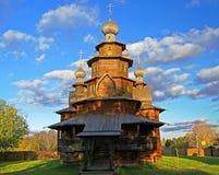Iglesia de madera en el museo de Suzdal. Fotografía de archivo libre de regalías