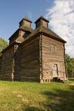 Iglesia de madera en el parque Fotografía de archivo