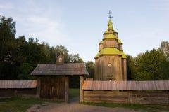 Iglesia de madera en el parque Imagen de archivo