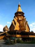 Iglesia de madera en Izmaylovo Moscú Rusia Imágenes de archivo libres de regalías
