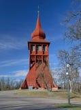 Iglesia de madera en Kiruna Foto de archivo libre de regalías