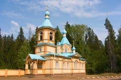 Iglesia de madera en la isla de Valaam Fotografía de archivo libre de regalías