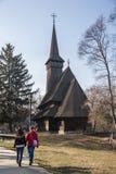 Iglesia de madera en museo del pueblo Imagen de archivo libre de regalías