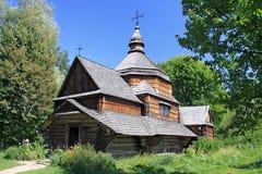 Iglesia de madera en Pirogovo Fotografía de archivo libre de regalías