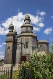 Iglesia de madera en Sednev Imagen de archivo