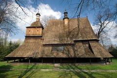 Iglesia de madera en Sekowa, Polonia Fotografía de archivo libre de regalías