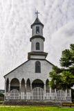 Iglesia de madera, isla de Chiloe, Chile fotos de archivo libres de regalías