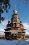 Iglesia de madera de la transfiguración Suzdal Rusia Fotos de archivo