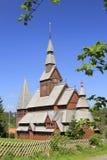 Iglesia de madera nórdica Fotografía de archivo