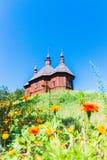 Iglesia de madera ortodoxa ucrania Fotografía de archivo libre de regalías